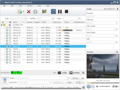 Xilisoft DVD to iPod Suite 6.5.3.0310 screenshot