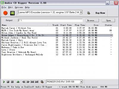 Zeallsoft Audio CD Ripper 5.65 screenshot